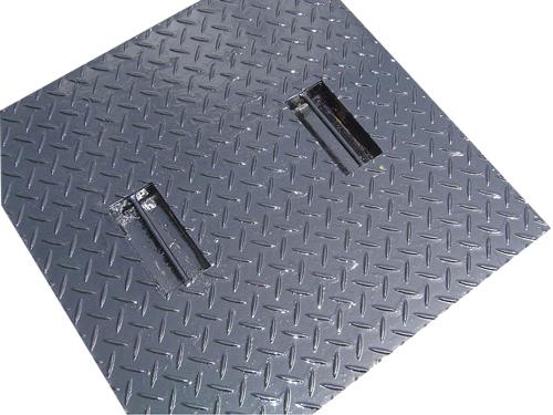 縞鋼板黒ペイント